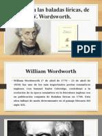 Prólogo a Las Baladas Líricas, De WWordsworth