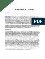 Basic Grade Interpolation in Leapfrog