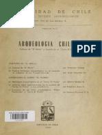 """Cornely 1958 Arqueología Chilena. Cultura """"El Molle"""" y Expedición al """"Cerro El Plomo"""""""
