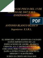 Conferencia SISMO PISCO 15 de AGOSTO 2007-Para Intranet