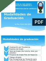 Modalidades de Graduación Carrera de administracion de empresas umsa