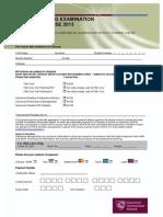 FAE ROI Revision Course Enrolment Form 2013