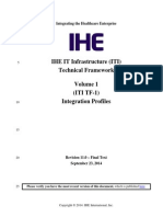 IHE IT Infrastructure TEchnical Framework Volume 1