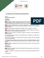 Lei Orgânica de Petrolina - PE.pdf