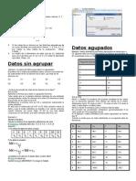 Serie Simple, Datos sin Agruoar y Datos Agrupados Estadistica