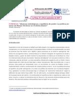 Alianzas Estratégicas y Equilibrio de Poder, La Política Exterior de Néstor Kirchner en El Último Bienio
