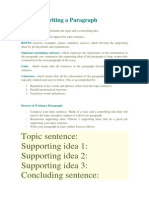 Tips for Writing a Paragraph