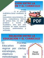 Relación Entre La Educación y El Currículo