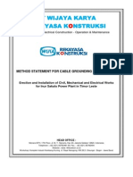 Method Statement Earthing Cable