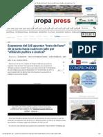 Europa Press - Exasesores Del SAE Apuntan Trato Favor en Jaén