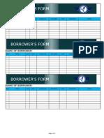 Property Custodian Borrower's Form