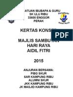 Paper Work Sambutan Hari Raya 2015