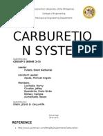 Carburetion System
