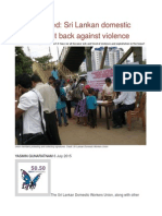 Sick and Tired Sri Lankan Domestic Workers Fight Back Against Violence