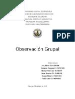 Observación Grupal