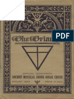 AMORC - The Triangle August 1923