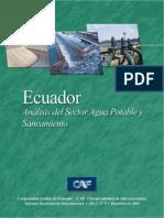 Ecuador AnáLisis Del Sector Agua Potable y Saneamiento