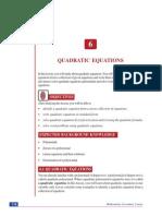Chapter 6. Quadratic Equations