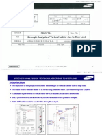 Offshore Installation Samsung design Vertical Ladder Stress design load