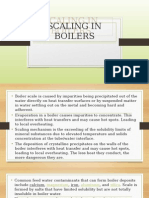 Scaling in Boilers