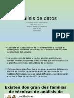 Analisis de datos en una investigación cientifica