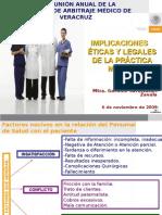 Implicaciones éticas y legales de la práctica médica