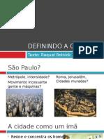 Definindo a Cidade