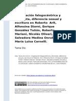 Tania Diz. Imaginacion Falogocentrica y Feminista, Diferencia Sexual y Escritura