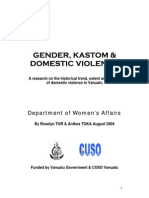 Gender, Kastom & Domestic Violence