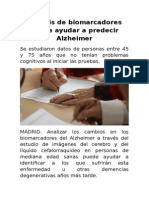 Análisis de Biomarcadores Puede Ayudar a Predecir Alzheimer