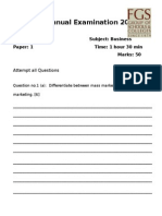 o Level Year 2 Business Paper