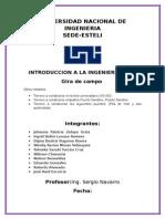 Informe de Gira de Campo