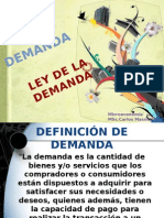 LA DEMANDA, LA LEY DE LA DEMANDA