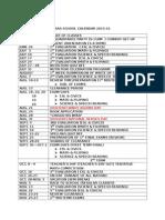 Aas School Calendar 2015