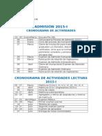 Actividades Académaaaicas 2015-I y 2015-II