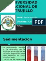 SEDIMENTACION DEFINICION