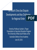 Thayer South China Sea Dispute