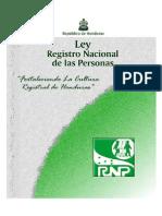 Ley Del Rnp-Honduras