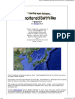 How the Japan Earthquake Shortened Earth's Day
