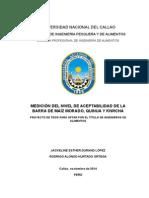 """PROYECTO """"BARRA DE MAÍZ MORADO CON QUIWICHA"""""""