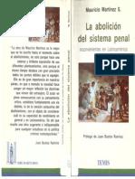 La Abolición Del Sistema Penal , Mauricio Martinez(1)