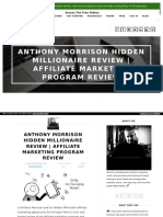 Anthony Morrison Hidden Millionaire Review | Affiliate Marketing Program Review