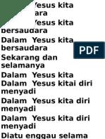 Dalam Yesus Kita Bersaudara