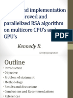 Parallelized RSA on multicore CPUs and GPU
