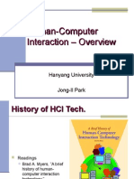 Human Computer Interaction Overview