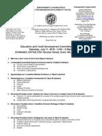 ECWANDC Education and Youth Development Committee Agenda - July 11, 2015