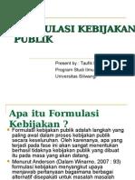 50179357 Formulasi Kebijakan Publik