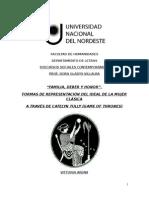 """""""FAMILIA, DEBER Y HONOR"""". FORMAS DE REPRESENTACIÓN DEL IDEAL DE LA MUJER CLÁSICA A TRAVÉS DE CATELYN TULLY (GAME OF THRONES)"""