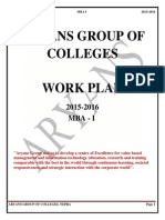 Work Plan of Top MBA College in Chandigarh