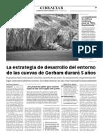 150707 La Verdad CG- La Estrategia de Desarrollo Del Entorno de Las Cuevas de Gorham Durará 5 Años p.9